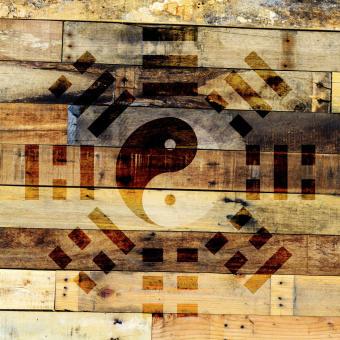yin yang baguan trä