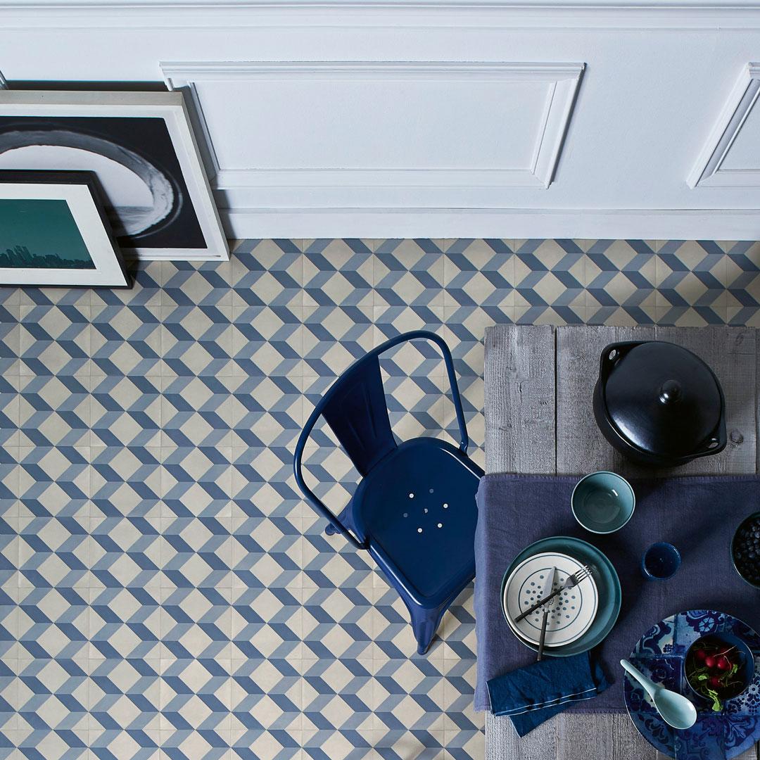 Nordsjö Idé & Design gulv gulvbelegg. Kubistisk vinylgulv fra Tarkett